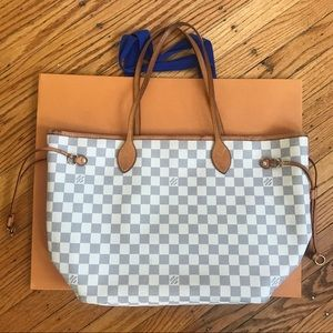 Authentic Louis Vuitton Neverfull MM Azur